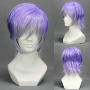 Purple 35cm Diabolik Lovers Kanato Sakamaki Cosplay Wig