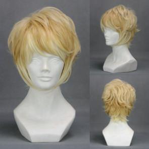 Gold 35cm Diabolik Lovers Shu Sakamaki Cosplay Wig
