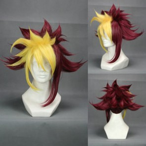 Yellow And Red 40cm Yu-Gi-Oh! Zexal Quattro Vetrix Family Thomas Arclight Cosplay Wig