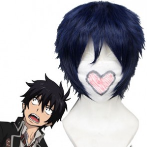 Dark Blue 30cm Ao No Exorcist Rin Okumura Cosplay Wig