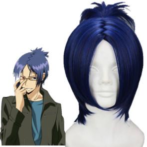 Dark Blue 32cm Katekyo Hitman Reborn Rokudo Mukuro Cosplay Wig