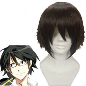 Dark Brown 30cm DuRaRaRa Shinra Kishitani Cosplay Wig