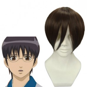 Dark Brown 30cm Gintama Shimura Shinpachi Cosplay Wig