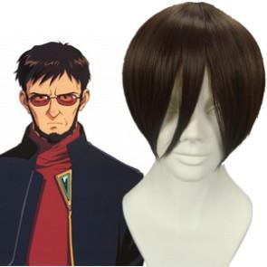 Dark Brown 30cm Neon Genesis Evangelion Ikari Gendo Cosplay Wig