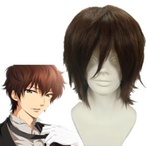 Dark Brown 32cm Code Geass Kururugi Suzaku Cosplay Wig