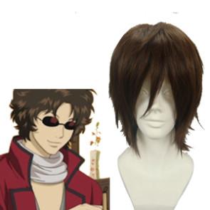 Dark Brown 32cm Gintama Sakamoto Tatsuma Cosplay Wig