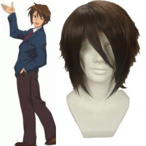 Dark Brown 32cm Haruhi Suzumiya Koizumi Itsuki Cosplay Wig