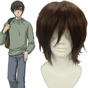 Dark Brown 32cm Chobits Motosuwa Hideki Cosplay Wig