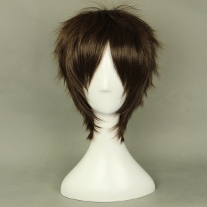 Dark Brown 35cm Attack On Titan Eren Jaeger Cosplay Wig