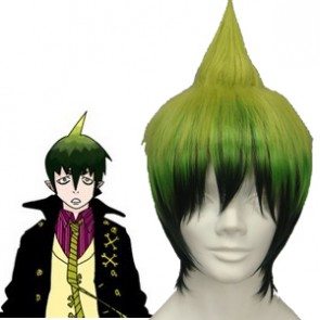 Dark Green 32cm Ao No Exorcist Amaimon Cosplay Wig