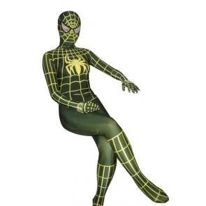 Dark Green Spiderman Lycra Spandex Zentai Suit