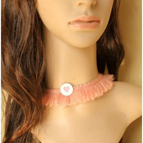 Dark Pink Concise Girls Lolita Necklace
