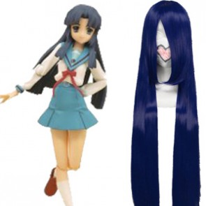 Deep Blue 100cm Haruhi Suzumiya Asakura Ryoko Cosplay Wig
