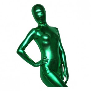 Deep Green Shiny Metallic Unisex Zentai Suit