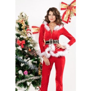 Elegant Santa Women Christmas Holiday Suit