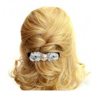 Elegant Grey Floral Women Lolita Hairpin