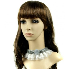Elegant Grey Girls Lolita Choker