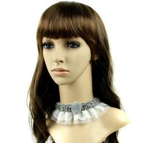 Elegant Grey Girls Lolita Choker