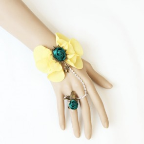 Elegant Rose Floral Lolita Bracelet And Ring Set