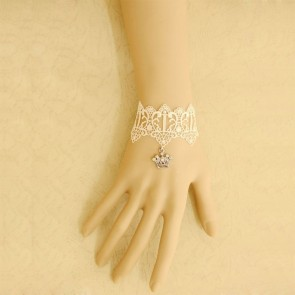 Elegant White Lace Crown Decoration Lolita Wrist Strap