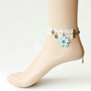 Elegant White Lace Girls Lolita Ankle Belt