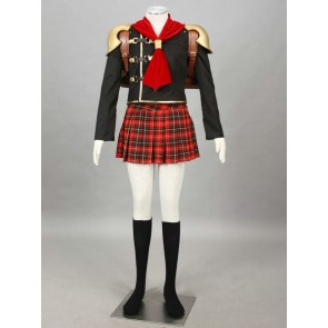Final Fantasy Type-0 Suzaku Peristylium Class Zero Cater Cosplay Costume