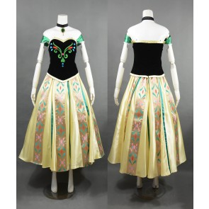 Frozen Coronation Princess Anna Cosplay Costume