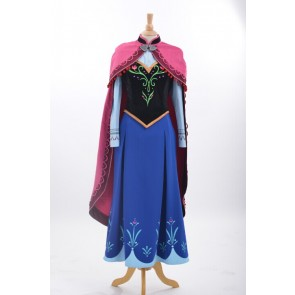 Deluxe Frozen Princess Anna Cosplay Costume