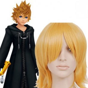 Gold 32cm Kingdom Hearts Roxas Cosplay Wig