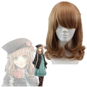 Gold 45cm Amnesia Heroine Cosplay Wig