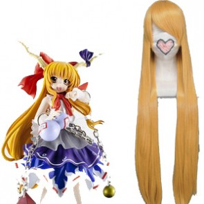 Golden 100cm Tonhou Project Ibuki Suika Cosplay Wig