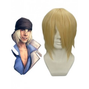 Golden 30cm Final Fantasy XIII 13 Snow Villiers Cosplay Wig