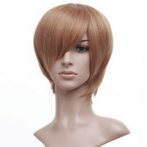 Golden 32cm Death Note Light Yagami Kira Brown Cosplay Wig
