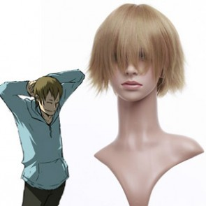 Golden 32cm DuRaRaRa Yumasaki Walker Cosplay Wig