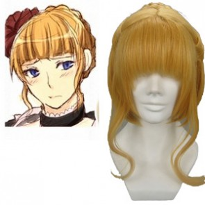 Golden 32cm When They Cry 3 Beatrice Cosplay Wig