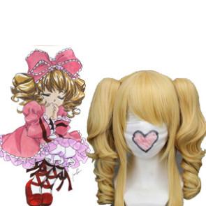 Golden 40cm Rozen Maiden Hinaichigo Nylon Cosplay Wig