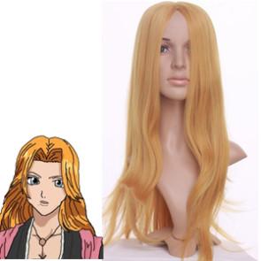 Golden 80cm Bleach Matsumoto Rangiku Cosplay Wig