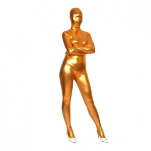 Golden Full Body Shiny Metallic Unisex Zentai Suit