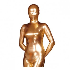 Golden Shiny Metallic Unisex Zentai Suit