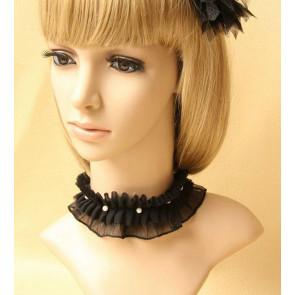 Gorgeous Black Beaded Girls Lolita Necklace