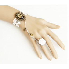 Gorgeous Floral Fashion Girls Lolita Bracelet And Ring Set