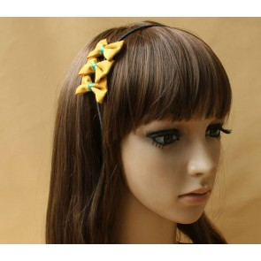 Gorgeous Handmade Yellow Bow Lady Lolita Headband