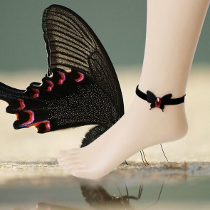Gothic Black Bow Lady Lolita Ankle Belt