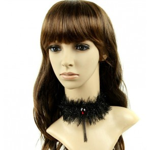 Gothic Black Metal Chain Victorian Lady Lolita Necklace