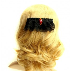 Gothic Black Rococo Lady Lolita Hairpin
