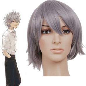 Gray 32cm Neon Genesis Evangelion Nagisa Kaworu Cosplay Wig