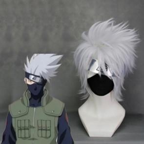 Gray 35cm Naruto Hatake Kakashi Cosplay Wig