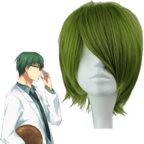 Green 32cm Kuroko no basuke Midorima Shintaro Cosplay Wig