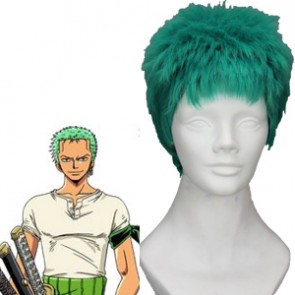 Green 5cm One Piece Roronoa Zoro Cosplay Wig