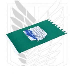Green Attack On Titan Recon Corps Cosplay Flag